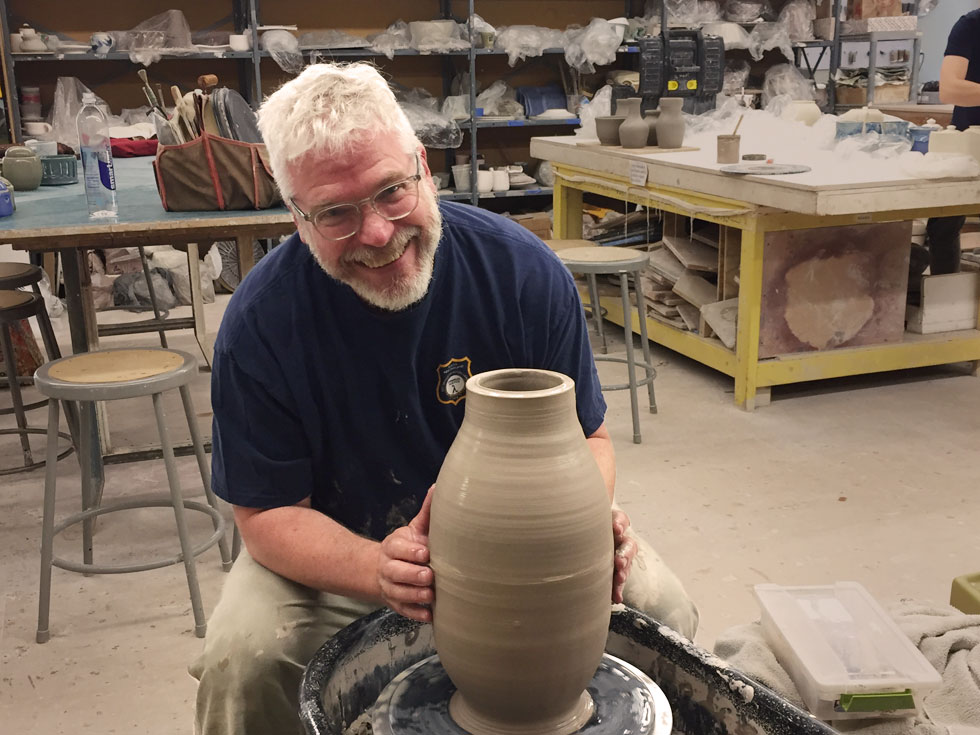 Hudson River pottery ready to fire